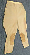Vintage Riding Equestrian Tan/brown Allen Patented Knee Action 30's/40's
