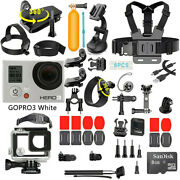 Gopro Hero3 White Action Sport Wi-fi Camera Camcorder With 40 Pcs Accessory
