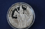 1973 Franklin Mint Sovereign Nation Of The Apache Tribe Silver Art Medal P0083