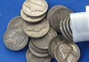 1943-s Jefferson Silver Wartime Nickel Roll Of 40 Coins B0858