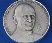 1965 Medallic Art Co Pope Paul Vi Mission To United Nations Silver Medal B1503