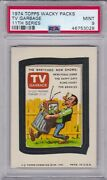 1974 Topps Wacky Packages Tv Garbage Psa 9 Mint Series 11 Packs Centered Tough