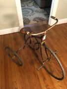 Antique Gendron 1898 Pioneer Tricycle Excellent Condition Rare