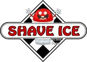Choose Your Size Shave Ice Decal Checker Food Truck Concession Vinyl Sticker