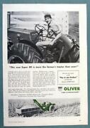 Oiginal 1957 Oliver Super 88 Tractor Ad More The Farmer's Tractor Than Ever