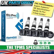 Tpms Tyre Pressure Sensors For Bugatti Veyron 11-12 - Set Of 4 - Pre-coded