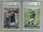 2015 Marcus Mariota Topps Throwing/running 429 A And B Titans Raiders Bgs 9 Mint