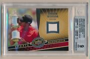 2009 Ud 20th Anniversary Tiger Woods Tw2 Blank Back Missing Relic Bgs 9 Mint