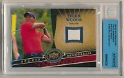 2009 Ud 20th Anniversary Tiger Woods Tw Blank Back Missing Relic Bgs Authentic