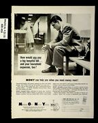 1959 Mony Insurance Mutual Of New York Loan Payments Vintage Print Ad 8889