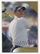 2003 Ud Sp Authentic Tiger Woods Sp Limited Gold 100/100 Long Ball Leaders 53