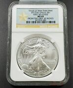 2012 W 1 Oz American Silver Eagle .999 Coin Ngc Ms69 First 50 Boxes Release