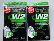 2-genuine Hoover W-2 Hepa Vacuum Bags- Made For Windtunnel 2 Upright Vacuums