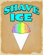Shave Ice Decal Choose Your Size V Food Truck Concession Sticker
