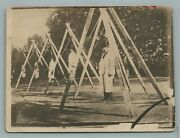 Armenian Genocide By Turks Hanging Men Antique Real Photo Postcard Rppc Rare