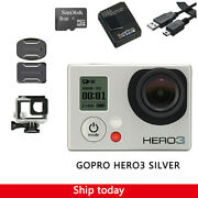 Gopro Hero 3 Silver Edition Camera Camcorder With 8g Sd Card +waterproof Case