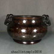 China Qing Dynasty Red Copper Pinch The Silver Thread Sheep Ear Stove