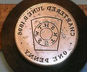 Rare Hood River Or Backside Masonic Penny Die Chapter No 27 Mc Lilley
