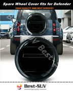 Fits For Land Rover Defender 2020 2021 Abs Plastic Black Spare Tyre Tire Cover