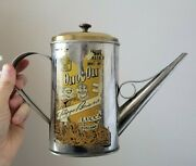 Vintage Tin Can Olio D'oliva Lucca Toscana Olive Oil Pitcher And Lid
