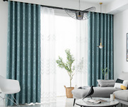 Made To Measure Curtains Luxury Thick Chenille Patterned Eyelet Pencil Pleat