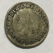1832 Colombia 1 One Real Foreign Silver Coin Free Shipping Usa Collectors Coin