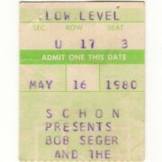 Bob Seger And The Rockets Concert Ticket Stub Bloomington 5/16/80 Against The Wind