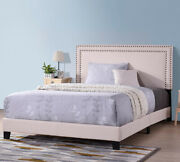 Full/king/queen Size Beds Wood Bed Frame With Upholstered Headborads Platform