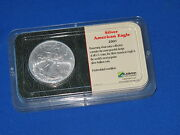 2001 American Silver Eagle Brilliant Uncirculated In Littleton Clamshell B6470