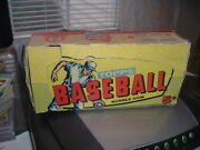 1957 Topps Gum Co. Baseball Card Empty Display Wax Box 5 Cents Not Dated Tough