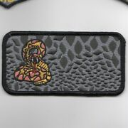 4 Usaf Air Force 50 Fts Nametag Blank Snake Scales Embroidered Jacket Patch