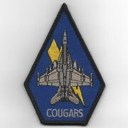 4.5 Navy Vaq-139 E/a-18g Coffin Blue Cougars Eas Embroidered Jacket Patch