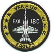 3 Navy Vfa-115 Aircraft Round Black 4 Stars Embroidered Jacket Patch