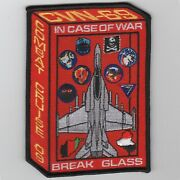 5 Usn Navy Cvn-69 Vfa-143 Cvw-7 2009 Break Glass Cruise Red Embroidered Patch