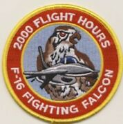4 Air Force F-16 2000 Flight Hours Fighting Falcon Red Yellow Embroidered Patch