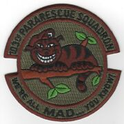 4 Usaf Air Force 103rd Pararescue Squadron Sudbued Embroidered Jacket Patch
