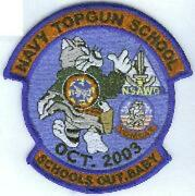 4 Usn Navy Top Gun School Fighter Weapons Schools Out Embroidered Jacket Patch