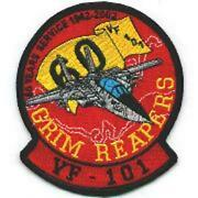 4 Navy Vf-101 F-14 60th Anniversary Grim Reapers Text Embroidered Jacket Patch