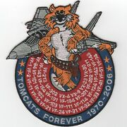 5.5 Usn Navy F-14 Tomcat Tomcats Forever 1970-2006 Military Embroidered Patch