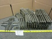 Lot Of 46 O Scale Metal Train Tracks 23 Curve, 20 Straight And A 4-way Crossing