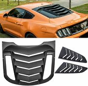 3pcs Rear And Side Window Louvers Abs Windshield Cover For Ford Mustang 2015-2021