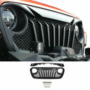 For Jeep Wrangler Jl 2018-2019 2020 Black Front Center Grille Grill Cover Trim