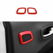 Red Abs Rear Door Speaker Horn Cover Trim Fit For 2017-2019 2020 Jeep Compass