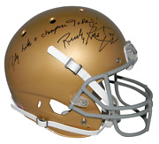 Rudy Ruettiger Signed Notre Dame Full Size Helmet W/ Play Like A Champion Today