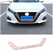 For Nissan Altima/teana 2019-2021 Red Front Lower Mesh Grille Grill Cover Trim