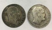 2 Coins 1857 16 Skilling Denmark Silver Foreign Coins Free Shipping In Usa