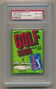 1982 Donruss Golf Wax Pack With Jack Nicklaus 16 Showing On Back Psa 8 Nm-mt