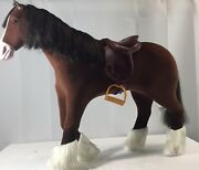 American Girl 2014 Prancing Mohogany Brown Horse For Pretty City Carriage