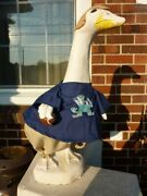 Goose Clothes 4 Lawn Geese Notre Dame Football Fits Cement And Plastic Comb Ship