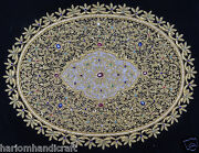1.5and039x2and039 Wall Hanging Zari Panel Hand Embroidered Jeweled Floral Wall Decor H807
